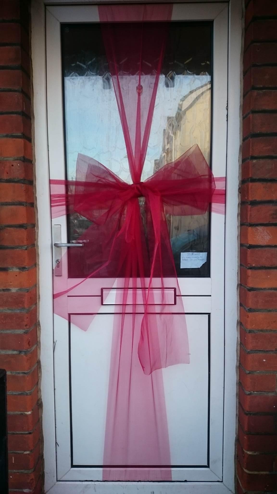 Christmas door bow organza